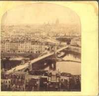 Paris - « N°20 - Pont Louis Philippe et Panorama de Paris. Attribué à William England (Paris - The bridge Louis Philippe and Panorama of Paris. Photographer assumed : William England)
